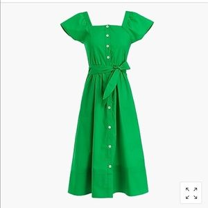 Sz 6 j crew Kelly green shirt dress worn once.